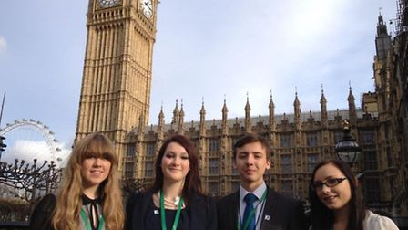 Norfok MYPs attended a debate in the House of Commons in November 2013