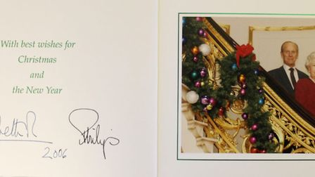A collection of Christmas cards sent by the Royal Family to a Sandringham employee are set to be auctioned off