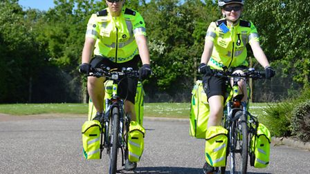 St John Ambulance has expanded its Cycle Response Unit by installing two bikes in Norfolk for the fi