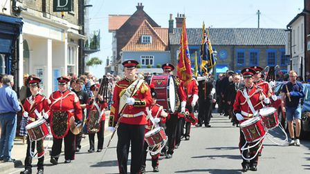 Civic Parade for new Southwold Town Mayor,Ann Betts.