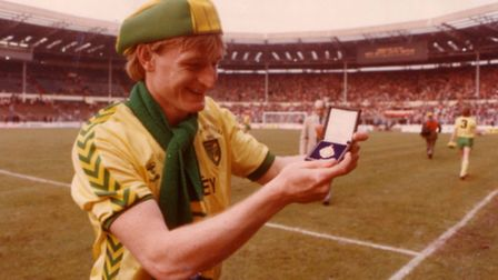Peter Mendham with his Milk Cup medal.