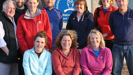 The team of parents and friends from Ilketshall St Lawrence Primary School who will be taking on The