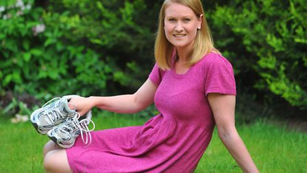 Kathryn Dugdale-Evans who ran her race for life two weeks early as her surgery meant that she could