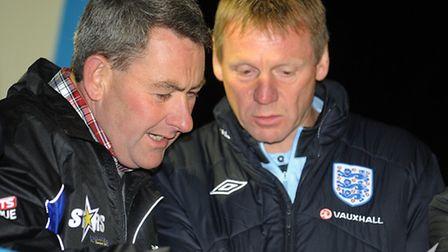 Buster Chapman rubbed shoulders with legend Stuart Pearce at the Norfolk Arena last year. Picture: M