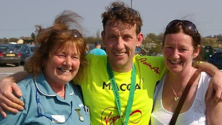 Simon McKinna who is hoping to raise £12,121.2 for charity in memory of his mum who died of cancer.