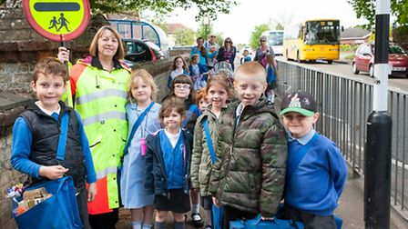 Christine Longman is retiring after 17 years as lollipop lady at Horsford infants school, and is not