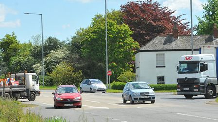 Valerie Knights's house beside the A47 at Burlingham. Photo: Bill Smith