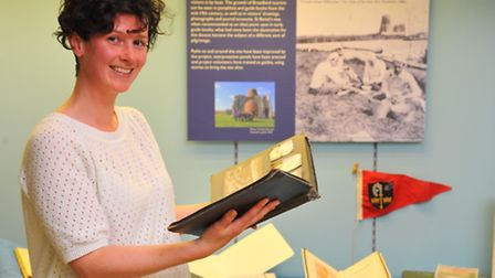 Stories from St Benet's Abbey, an exhibtion on show at Norfolk Record Office. Curator Anne Lovejoy.P