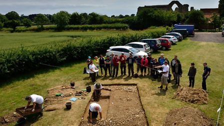 Archaeologists from DigVentures working at Leiston Abbey last year.