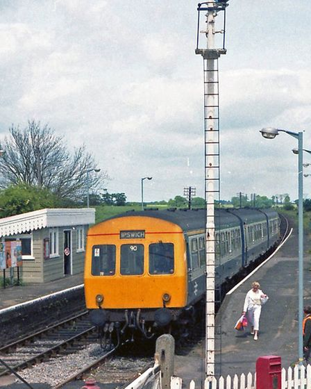 An Ispwich bound train on the East Suffolk Line