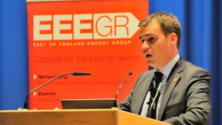 Keynote speaker Tom Greatrex, Labour's shadow energy minister at the EEEGR energy conference at the