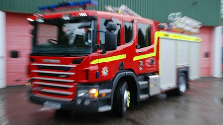 Emergency services called to the scene of a van fire.