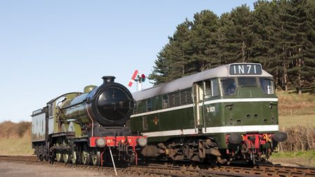 In the 1960s they worked alongside each other on Norfolk tracks - a B12 steam engine and a Class 31