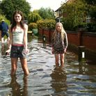 Flooding at Private Road, Ormesby. Picture: LR