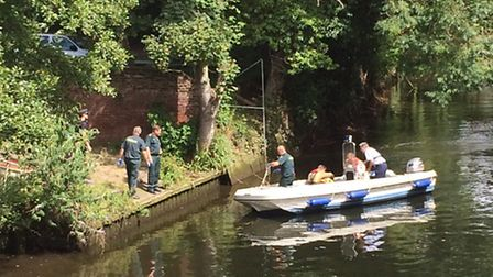 Woman rescued form the river near Red Lion pub.03/07/14