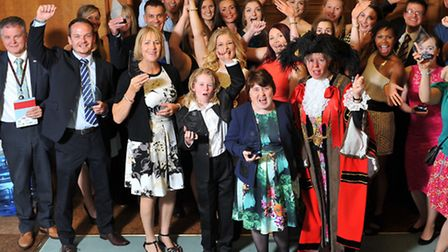 Norwich sports awards winners at City Hall last night with Lord Mayor Judith Lubbock. Photo: Bill S