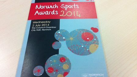 Norwich Sports Awards 2014 brochure. PIC: Peter Walsh