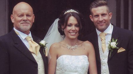 John Palmer, father-in-law of Ryan Harman who suffers from motor neurone disease, pictured with wife