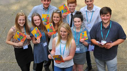 Young Norfolk Daily Press team all ready for the Young Norfolk Arts Festival. Photo: Steve Adams.