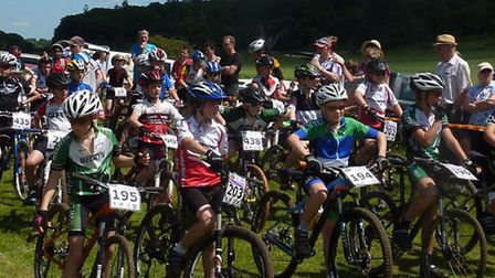 The Under 12s wait for their start at Ickworth. Picture: FERGUS MUIR
