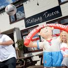 Paul Sandford at the Railway Tavern in Dereham has had world cup t-shirts for his customers marking