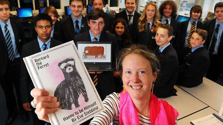 Eve Stebbing who has written a book called Bernard the Ferret.She has involved students on a BTEC In
