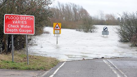 Flood water covers the A1101 at Welney for weeks on end each winter. Picture: Matthew Usher.