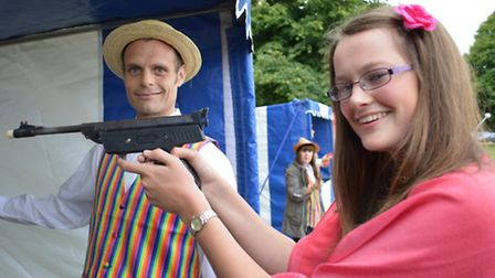 Gresham's Leavers Ball - Clare Mawson at the shooting gallery. Picture; RICHARD BATSON