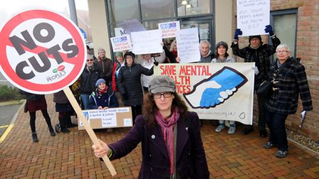 Members of the Campaign to Save Mental Health Services in Norfolk and Suffolk at the North Norfolk C
