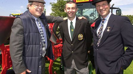 Chairman of the RNAA Henry Cator, right, and Michael Pollitt, EDP agricultural editor, left, with St