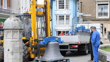 Cromer Parish Church bells are returned after being refurbished. PHOTO: ANTONY KELLY