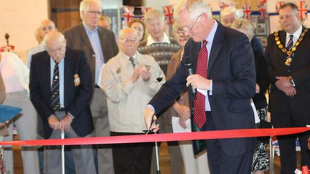 OPENING CEREMONY: Major General Sir William Cubitt officially opens the exhibition. Picture: SUBMITT
