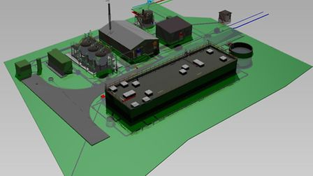 Anglian Water's planned new £4.5 million water treatment works near to Mattishall.