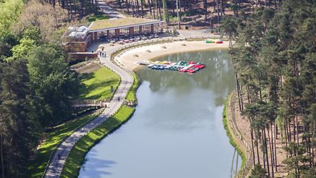 Undated Center Parcs handout photo of their new holiday village in Woburn Forest, Bedfordshire, whic