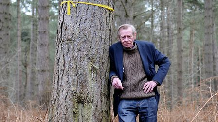 David Oliver, on the land he had applied to turn into a woodland burial site at Barn Plantation and