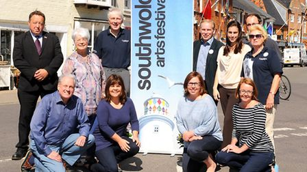 Southwold Arts Festival team are ready for the festival, which starts this weekend in Southwold.Pict
