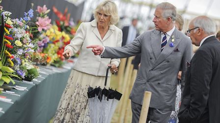 Prince Charles and the Duchess of Cornwall at the Sandringham Flower Show 2013. Picture: Matthew Ush