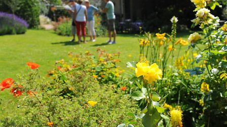 Visitors have a look around one of the Thetford open gardens
