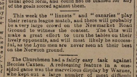 April 1, 1905 in the People's Weekly Journal in Norfolk: The first mention of the word Canaries in c