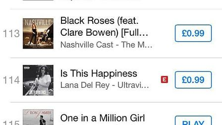 Leon James' single One in a Million Girl has hit the iTunes chart