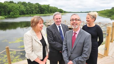 Chief Executive of Visit England, James Berresford,(centre) was the guest speaker at a Broads touris