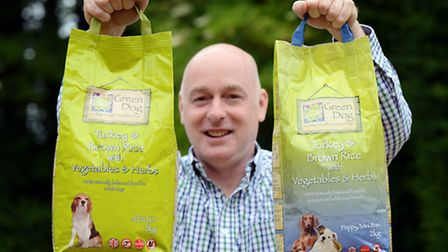 Simon Booth, Manager Green Dog Food in Stradsett, is creating a £200 bag of dog food for the discern