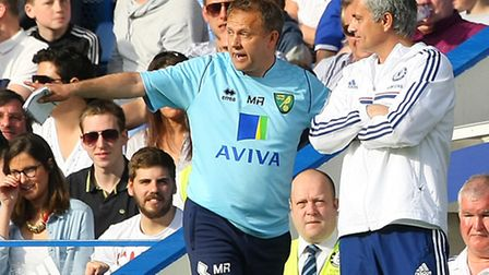 Norwich City's new first team coach Mark Robson shared a touchline with Jose Mourinho by the end of