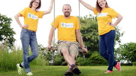 From left, Rachel Hughes-Green, Matt Wade and Sarah Hughes-Wade are holding a Food Festival this wee