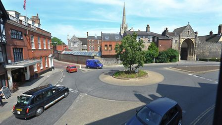 Tombland in Norwich, which could be set for an £800k traffic shake-up. Photo: Bill Smith