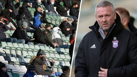 There will be 2,000 socially distanced fans back inside Portman Road this weekend to support Paul Lambert's Ipswich Town.