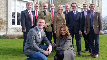 Norfolk estate agents at Hoveton Hall with Caroline Culot and Kristian Jones.PHOTO BY SIMON FINLAY
