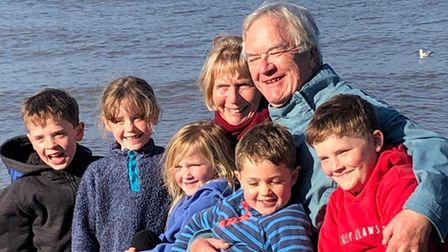 Undated handout photo issued by the RNLI of Martin Stephen and his wife Jenny, with grandchildren