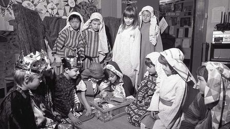 Nativity play in Diss. Date: December 16,1991.