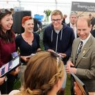Prince Edward meeting EDGE farming apprentices at the Royal Norfolk Show